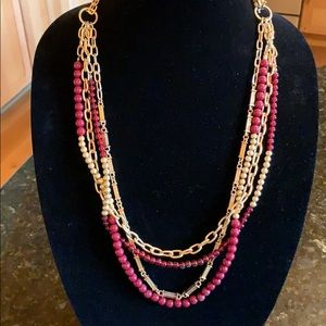 Premier designs Burgundy and gold multi necklace